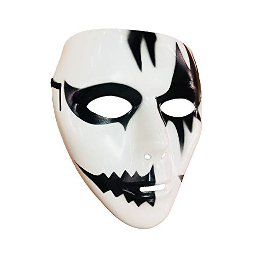 Abrante Hand - Painted Horror Face, Black and White Ghost Mask for Halloween, Cosplay and Carnival Party (B -
