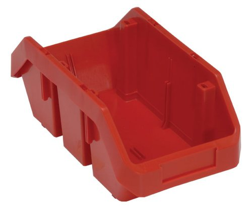 Quantum Storage Systems QP1265RD Quick Pick Bins 12-1/2-Inch by 6-5/8-Inch by 5-Inch, Red, 20-Pack (Quick Pick Double Hopper Bin)