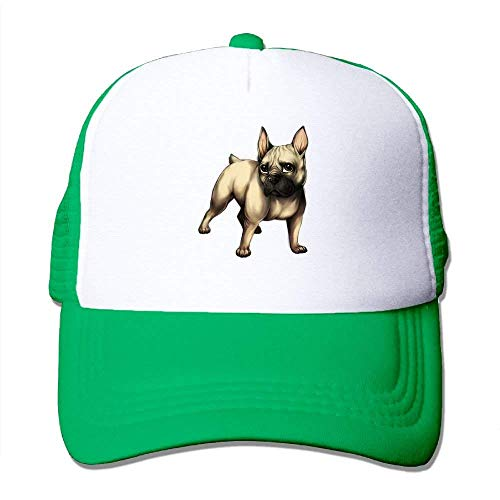 (French Bulldog Adjustable Sports Mesh Baseball Caps Trucker Cap Sun Hats)