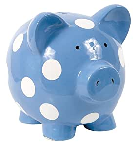 Elegant Baby Huge Piggy Bank Blue (Discontinued by Manufacturer)