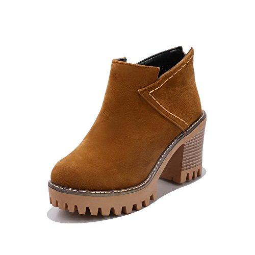 Amarillo mujer Para Zapatos cerrados AdeeSu 1nxIqwY8FW