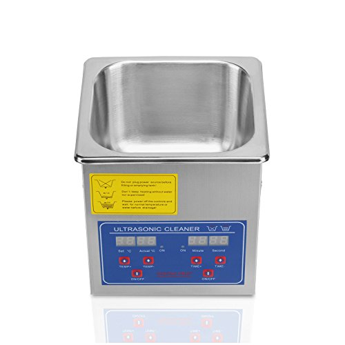 FoodKing Ultrasonic Cleaner Ultrasonic Cleaner Jewelry Ultrasonic Jewelry Eyeglass Commercial Industrial with Digital Heater Timer (1.3 Liter) by FoodKing (Image #5)