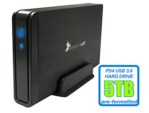 HornetTek Viper 5TB (5000GB) 7200RPM 64MB Cache USB 3.0 External PS4 Hard Drive (PS4 Pre-Formatted) - PS4, PS4 Slim & PS4 Pro