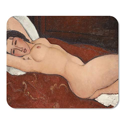 Suike Mousepad Computer Notepad Office Reclining Nude by Amedeo Modigliani 1917 Italian Modernist Painting Home School Game Player Computer Worker 9.5x7.9 Inch ()