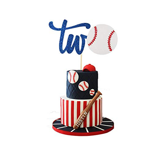 Concessions Cake Topper, Baseball Cake Topper, Second Birthday Cake Topper, Sports Cake Topper, 2nd Birthday Baby Shower Party Decoration Supplies