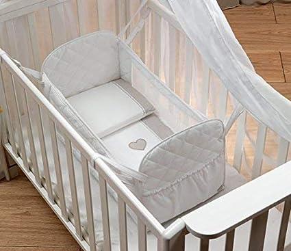 Piccoletto Riduttore Lettino neonato bebè con materassino col. BIANCO