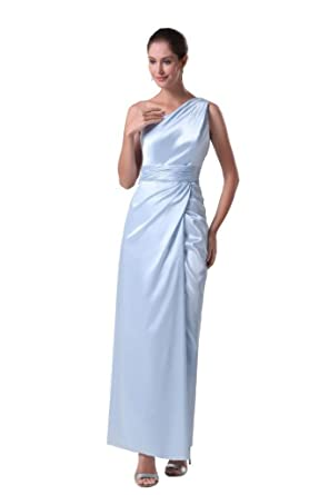 Amazon.com: Orifashion One Shoulder Side Wrap Prom Dress EDSHER0148 ...