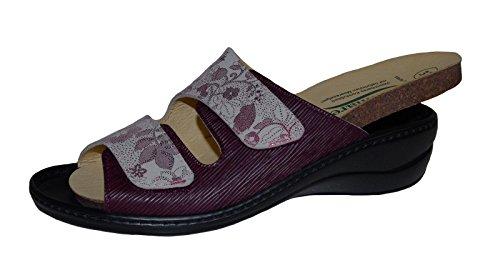 Pantolette 58 Ladies Bordeaux roseda Algemare Relief 1447 Chianti wUZW5xT
