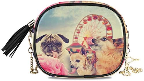 Purse Phone Bag Coin Case Large Capacity Animal Lovely Dogs Carnival Amusement Park Card Holder Organizer Wallet
