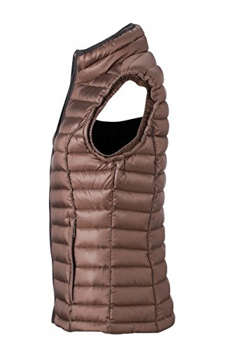 Damen Daunen Bodywarmer | Daunen Weste | JN1079, Größe:2XL;Farbe:coffee/black