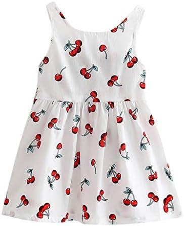 K-youth Vestido de Tirantes Niñas Verano Niños Ropa de Niña a la Moda 2019 Estampado de Cereza Sin Mangas Vestidos de Princesa Niñas Fiesta Ropa Bebe Niña: Amazon.es: Ropa y accesorios