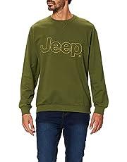 Jeep Felpa Girocollo Con Il Ricamo Del Logo Jeep J20s heren Sweatshirt met ronde hals