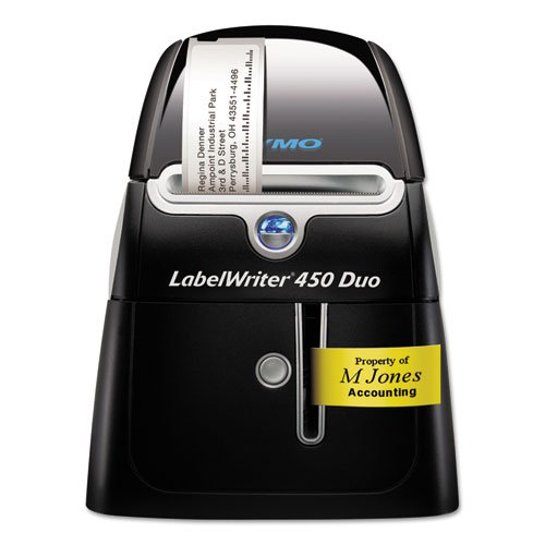 LabelWriter DUO Printer, 2-7/16'''' Labels, 71 Label/Min, 5-1/2w x 7-4/5d x 7-1/5h, Sold as 1 Each