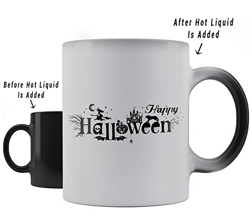 Aloha Set Child Teen Costumes (Aloha - Halloween Coffee Mug - Heat Sensitive Color Changing Coffee Mugs - 11oz Disney Happy Halloween Coffee Mug)