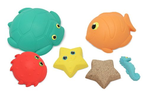 Melissa & Doug Sunny Patch Seaside Sidekicks Sand-Molding Set With 5 Animal Shapes ()
