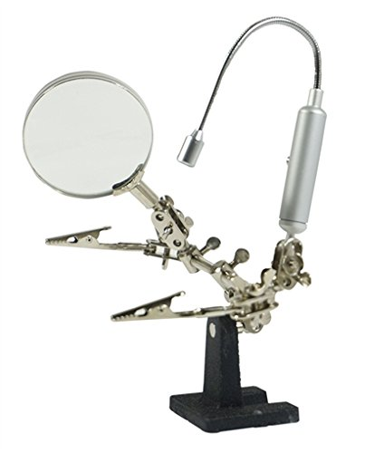 - SE MZ1013FL Helping Hand 3x Magnifier with Flexible Neck LED Flashlight