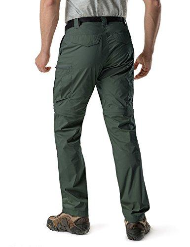 CQR CQ-TXP402-GRN_32W/30L Men's Convertible Pants Zipp Off Stretch Durable UPF 50+ Quick Dry Cargo Shorts Trousers TXP402 by CQR (Image #5)