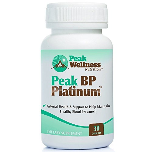 Peak BP Platinum for Blood Pressure, Circulation, Cardiovascular Health, Natural Supplement, 30 Capsules