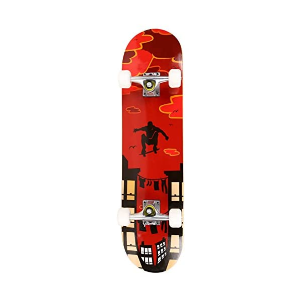 Anfan 31″ Pro Complete Skateboard, Adult Tricks Skate Board with 9 Layer Canadian...