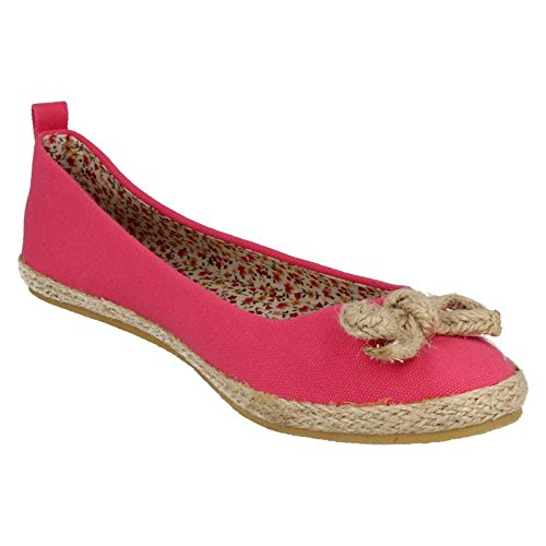 Shoes Spot Flat Pink Slip On Ladies On Fuchsia XfXT4