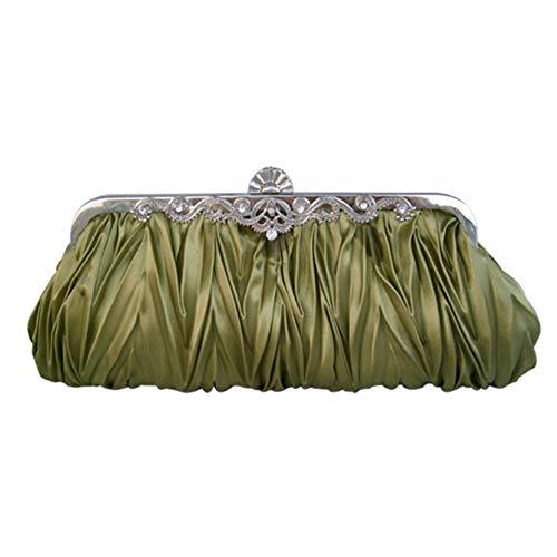 avec Vacances soirée Sac Strass pour Sacs Plissé Amant D Famille soirée H à Banquet 27x13cm 11x5inch Main Exquis Bracelet Pochette de Bridal de qpEOU