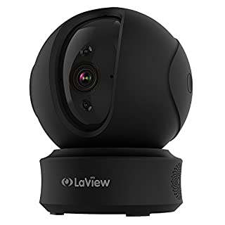 LaView ONE PT Home Security Wi-Fi IP Camera Full HD 1080P Pan/Tilt Night Vision Baby Monitor, Pet and Family Friendly Motion Tracking Surveillance Camera with Cloud and Multi Storage (Black)