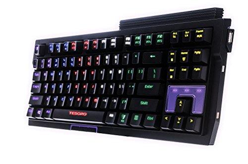 Tesoro Tizona Elite G2nfl Brown Mechanical Switch Usb Hub Tenkeyless Tournament Full Color Rgb Led Backlit Illuminated Gaming Mechanical Keyboard Ts G2nfl  Bw
