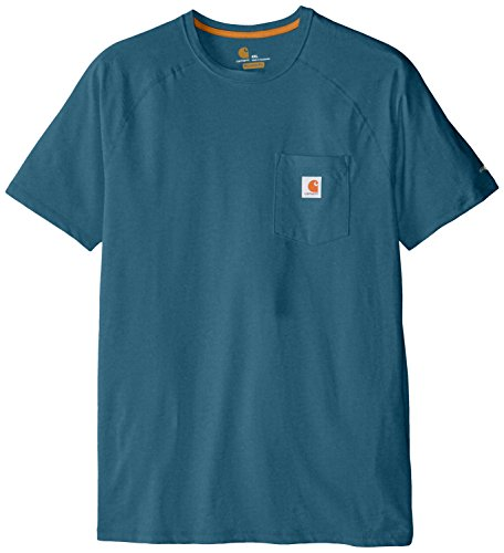 Carhartt Men's Big & Tall Force Cotton Delmont Short Sleeve T Shirt Relaxed Fit, Bay Harbor, 2X-Large/Tall by Carhartt (Image #1)