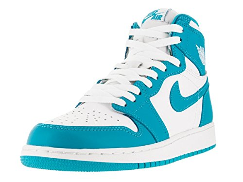 NIKE Boy's Air Jordan 1 Retro High OG BG Sneaker White/Dark Powder Blue outlet recommend free shipping release dates sale explore 1xSzhQZ0XA