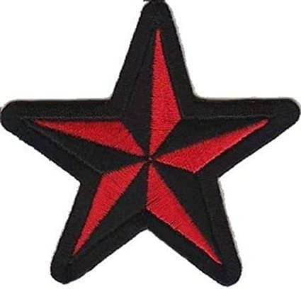 Amazoncom Nautical Star Red Black Motorcycle Mc Club Funny New