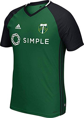 MLS Portland Timbers Men's Short Sleeve Training Top, X-Large, Green/black