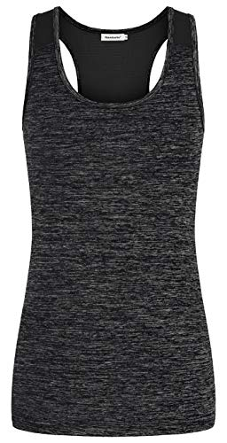 (Nandashe Tank Tops for Women Athletic, Ladies Basic Sleeveless V Neck Pleated Front Drawstrings Cute Knit Tunic Blouse Sports Working Out Ribbed Tank Shirt Dressy Tops Casual Activewear Black Large)