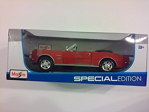 Special Edition 1967 Chevrolet Camaro RS/SS 396 Convertible Red - 1/18 Scale Diecast Model Toy Car Maisto ()