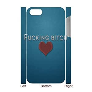 3D Bumper Plastic Case Of Fuck customized case For Iphone 4/4s hjbrhga1544