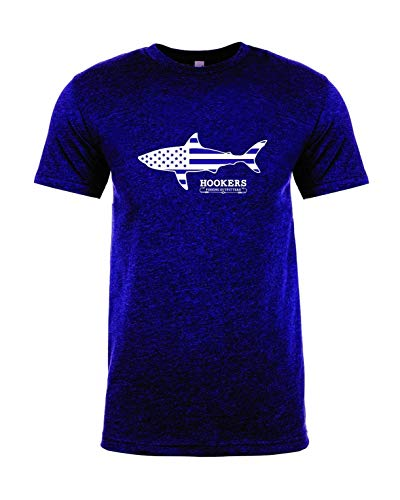 Hooker Fishing Outfitters Shark Series T Shirt, Blue, Small