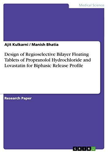 Design of Regioselective Bilayer Floating Tablets of Propranolol Hydrochloride and Lovastatin for Biphasic Release Profile - Hydrochloride Propranolol
