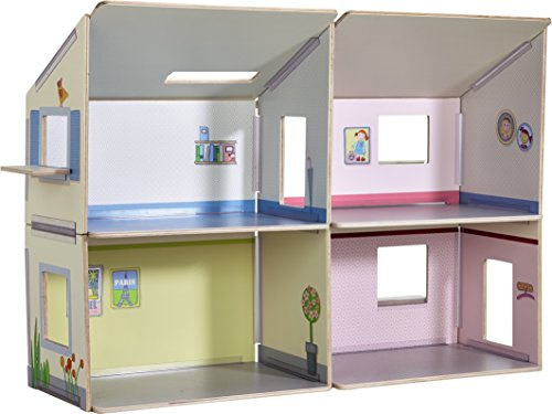 HABA Little Friends Large Dollhouse Villa Sunshine - 4 Spacious Rooms with Options for ()
