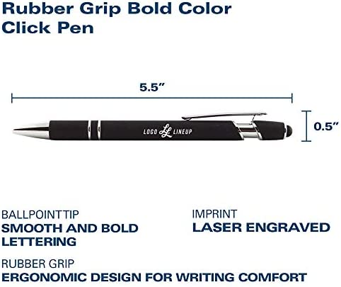 Click Action Ballpoint Pen with Rubber Grip UT Tyler Patriots Inc LXG