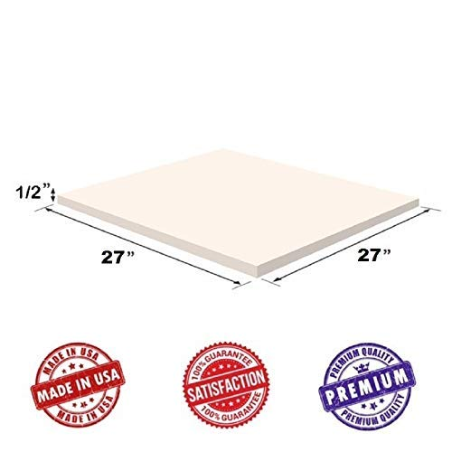 Upholstery Visco Memory Foam Square Sheet- 1/2