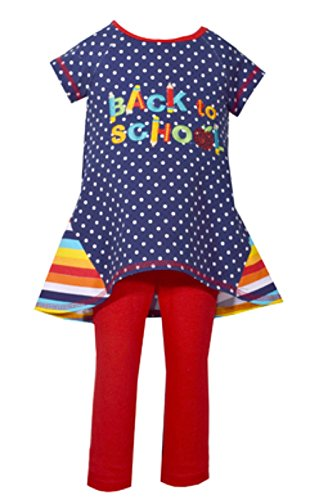 Bonnie Jean Girls' Little Holiday Dress and Legging Set, Back to School, 5]()