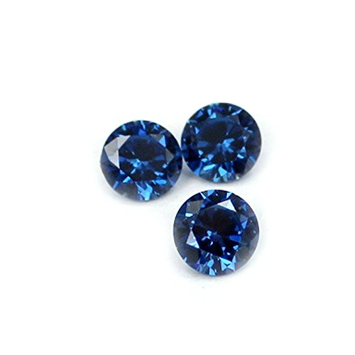 Linsoir Beads 50 pcs 4mm Cubic Zircon Loose Round Cubic Zirconia Top AAA Brilliant Cut Faceted Synthetic CZ Gemstone No Holes For DIY Jewelry Making ()