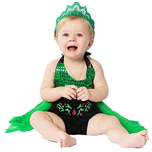 Tsyllyp Baby Girls Sequins Halloween Romper Anna -