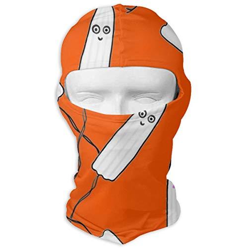 O-X_X-O Polyester Ski Skateboard Face Mask Motorcycle Cycling Bike Travel Hiking Outdoor Sunscreen Kawaii Tampons Orange Balaclava Face Mask