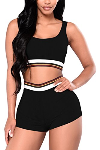 Crop Tank Top 2 Piece Set