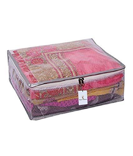 Kuber Industries PVC Saree Bag, Transparent  KI00555