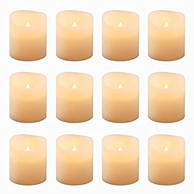 LumaBase 81012 12 Count Battery Operated Votive Candles, Amber