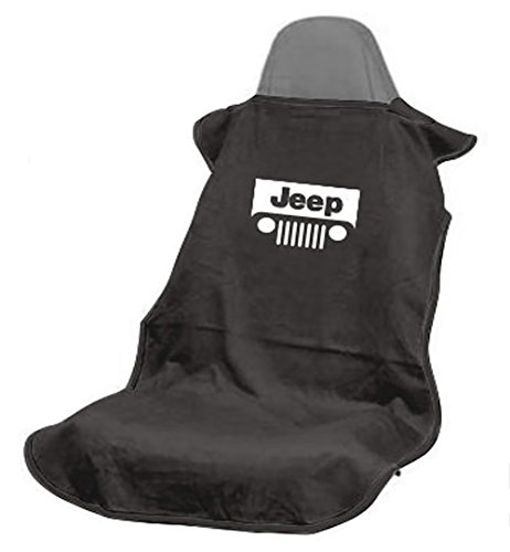 Logo Car Seat Towel (Seat Armour SA100JEPGB Black 'Jeep with Grille' Seat Protector Towel)