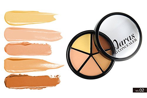 FantasyDay Pro 5 Colors Cream Concealer Camouflage Makeup Palette Contouring Kit #2 - Ideal for Professional and Daily Use