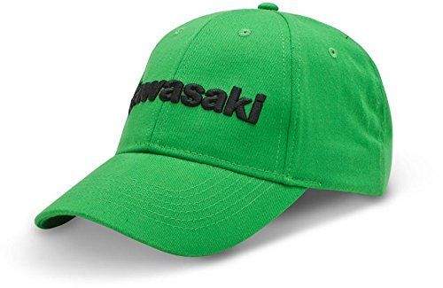 Kawasaki 3D Embroidered Logo Adjustable Hat Green ()