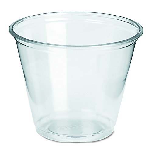 Dixie CP9A Squat PETE Plastic Cup, 9 oz, Clear (Case of 20 Packs, 50 cups per (Plastic Cutlery Case)